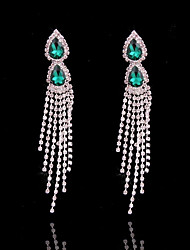 cheap -Women's Tassel / Long Stud Earrings / Hoop Earrings - Silver Plated Tassel, Fashion Silver For Wedding / Daily