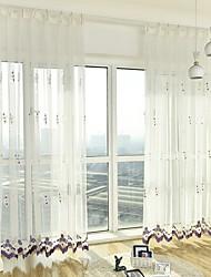 povoljno -Sheer Zavjese Shades Living Room Cvjetni print Suvremeno Pamuk / poliester Vez