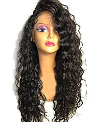 economico -Capello integro Lace frontale Parrucca Brasiliano / Molto ondulata Riccio 130% Densità Con i capelli del bambino / Attaccatura dei capelli naturale / Parrucca riccia stile afro Per donna Corto