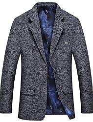 cheap -Men's Slim Blazer-Striped Notch Lapel / Long Sleeve