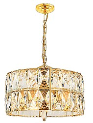 cheap -QIHengZhaoMing 6-Light Crystal Chandelier Ambient Light - Crystal, 110-120V / 220-240V, Warm White, Bulb Included / 15-20㎡