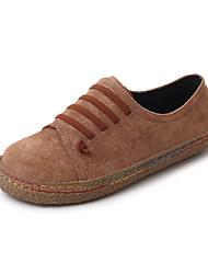 preiswerte -Damen Schuhe PU Herbst Springerstiefel Stiefel Blockabsatz Runde Zehe Schnürsenkel für Kleid Schwarz Grau Rot Hellbraun
