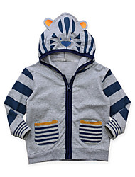 cheap -Boys' Daily Going out Solid Colored Striped Print Suit & Blazer, Cotton Acrylic Spring Summer Long Sleeves Cute Active Gray