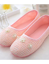 cheap -Women's Shoes Fabric Spring Fall Comfort Slippers & Flip-Flops Low Heel for Blue Pink