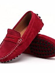 baratos -Para Meninos Sapatos Pele Nobuck Primavera Conforto Mocassins e Slip-Ons para Preto / Vinho