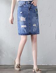 preiswerte -Damen Street Schick Stifte Röcke - Solide