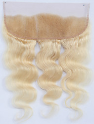 cheap -Guanyuwigs Brazilian Hair 4x13 Closure Wavy Free Part / Middle Part / 3 Part Swiss Lace Human Hair Women's Soft / Silky / With Bleached Knots Party Evening / Dailywear / Daily Wear