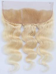 Недорогие -Guanyuwigs Бразильские волосы 4X13 Закрытие Волнистый Бесплатный Часть / Средняя часть / 3 Часть Швейцарское кружево Натуральные волосы Жен. Мягкость / Шелковистость / С отбеленными узлами