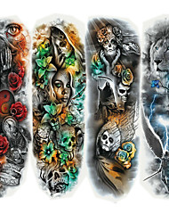 cheap -Sticker / Tattoo Sticker Arm Temporary Tattoos 4 pcs Cartoon Series Body Arts