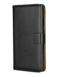 Недорогие -Кейс для Назначение Sony Xperia XA2 / Xperia L2 Бумажник для карт / со стендом / Флип Чехол Однотонный Твердый Кожа PU для Xperia XA2 / Xperia L2