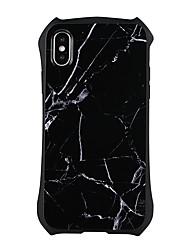 Недорогие -Кейс для Назначение Apple iPhone X iPhone 8 Plus Защита от удара броня Кейс на заднюю панель Мрамор Твердый ПК для iPhone X iPhone 8