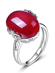 cheap -Agate Cuff Ring / Engagement Ring - Asian, Korean, Fashion Adjustable Red For Wedding / Daily