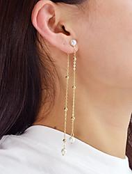 cheap -Women's Imitation Pearl Drop Earrings - Casual / Fashion Gold Circle / Line Earrings For Daily / Date