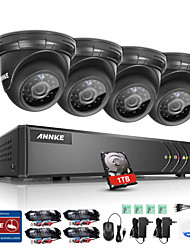 cheap -ANKKE® 8CH 720P IR Night Vision CCTV Security Cameras System 1TB HD