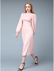 cheap -Women's Sophisticated Street chic Sheath Swing Two Piece Dress - Solid Colored