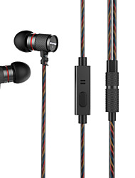 cheap -AWEI ES-660i In Ear Cable Headphones Dynamic Mahogany Sport & Fitness Earphone with Microphone Headset