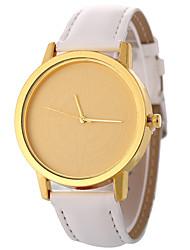baratos -Mulheres Quartzo Relógio de Moda Chinês Relógio Casual PU Banda Minimalista Fashion Preta Branco Azul Laranja Marrom