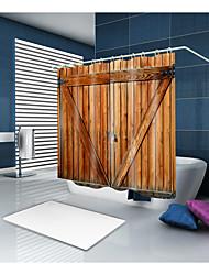 baratos -Cortinas e Ganchos de Banho Clássico Neoclassicismo Poliéster Contemporâneo Inovador Máquina Impermeável Banheiro