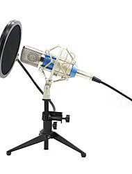baratos -KEBTYVOR BM700+PC03+Pop Filter Com Fio Microfone Microfone Condensador Microfone Portátil Para Microfone de Computador