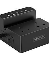 Недорогие -NTONPOWER Smart Plug ODC-2A5U-UK-5A-BK для Гостиная / Изучение / Спальня Защита от выключения / Креатив / Безопасность 100-240 V