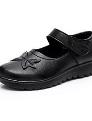 povoljno -Žene Cipele Sintetika, mikrofibra, PU Proljeće Jesen Udobne cipele Ravne cipele Wedge Heel za Kauzalni Crn Braon