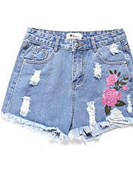 economico -Per donna Essenziale Pantaloncini Pantaloni - Fantasia floreale