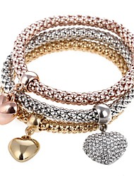abordables -Femme Charmes pour Bracelets Bracelets de rive - Cœur Doux Bracelet Arc-en-ciel Pour Soirée Cadeau / 3pcs