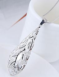Недорогие -Жен. В форме листа Ожерелья с подвесками  -  Простой Мода европейский Серебряный 70cm Ожерелье Назначение Для вечеринок Повседневные