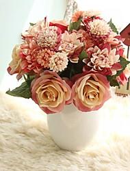Недорогие -Искусственные Цветы 8.0 Филиал Деревня Свадьба Розы Вечные цветы Букеты на стол
