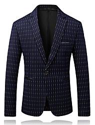 abordables -Blazer Homme-Rayé Vêtement décontracté Revers en Pointe / Veuillez choisir une taille au dessus de votre taille normale.