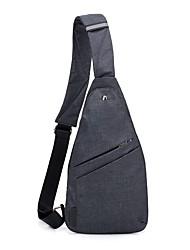 baratos -Homens Bolsas Tecido Oxford / Poliéster Sling sacos de ombro Ziper Azul / Preto
