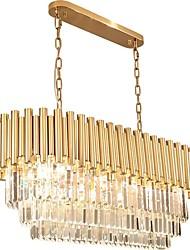 Недорогие -QIHengZhaoMing Кристаллы Люстры и лампы Рассеянное освещение Окрашенные отделки Металл Хрусталь 110-120Вольт / 220-240Вольт Теплый белый Лампочки включены