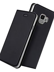 baratos -Capinha Para Samsung Galaxy S9 Plus / S9 Porta-Cartão / Com Suporte / Flip Capa Proteção Completa Sólido Rígida PU Leather para S9 / S9 Plus / Xiaomi Mi 6X(Mi A2)