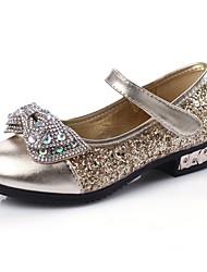 abordables -Chica Zapatos PU Verano Zapatos para niña florista Sandalias Pedrería para Niños Dorado / Plata / Rosa