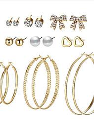 cheap -Women's Stud Earrings / Hoop Earrings - Star Sweet, Statement Gold / Silver For Evening Party / Street