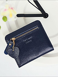 cheap -Women's Bags Genuine Leather / PU Coin Purse Buttons for Outdoor Blushing Pink / Sky Blue / Royal Blue