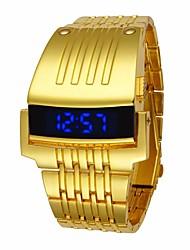 Недорогие -Муж. Спортивные часы электронные часы Кварцевый Черный / Серебристый металл / Золотистый Защита от влаги Цифровой Роскошь Мода - Золотой Черный Серебряный
