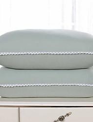 Недорогие -удобная подушка с улучшенным качеством подушки надувная / удобная подушка серый гусиный пух / полипропиленовый хлопок