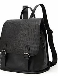 cheap -Women's Bags PU(Polyurethane) School Bag Buttons Black