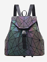 cheap -Women's Bags PU(Polyurethane) Backpack Buttons Rainbow