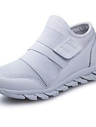 Недорогие -Девочки Обувь Полиуретан Весна лето Удобная обувь Спортивная обувь Пряжки для Белый / Красный / Черно-белый