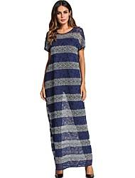 cheap -Women's Vintage Shift Dress - Striped Lace