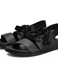 povoljno -Muškarci Cipele PU Ljeto Udobne cipele Sandale Obala / Crn