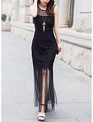 cheap -women's party sheath dress - solid colored midi