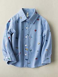 Недорогие -Дети Мальчики С принтом Длинный рукав Рубашка