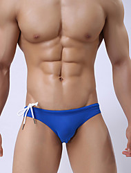cheap -Men's Basic Bottoms - Solid Colored / Striped / Color Block Cheeky