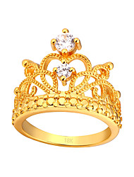 cheap -Cubic Zirconia Knuckle Ring - Crown Fashion 6 / 7 / 8 Gold / Silver For Daily