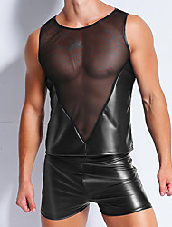 abordables -Homme Super sexy Col Arrondi Maillot de corps Maille