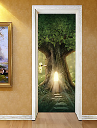 cheap -Decorative Wall Stickers Door Stickers - 3D Wall Stickers Landscape 3D Living Room Bedroom Bathroom Kitchen Dining Room Study Room /