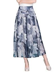 cheap -Women's Basic Swing Skirts - Floral